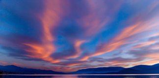 Езерото Бафа. Такива залези имаше, буквално, всяка вечер.