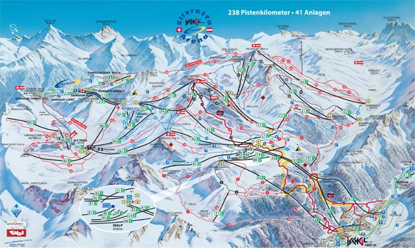 Silvretta Arena Ischgl map
