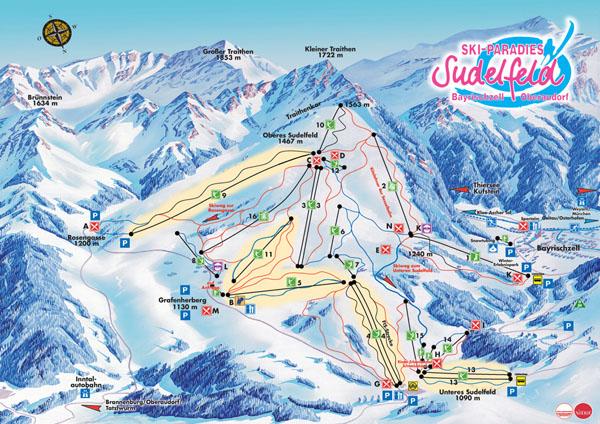 Карта на курорта Sudelfeld