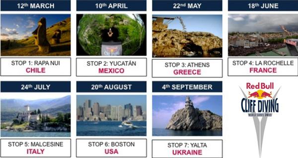 Red Bull Cliff Diving 2011 - calendar