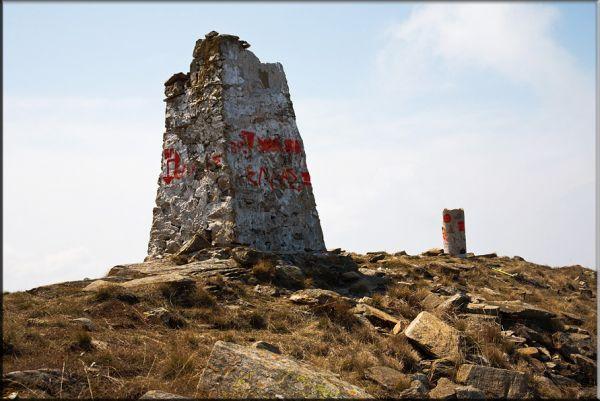 Граничният камък на връх Тумба