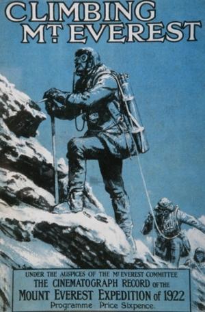 Плакат на първия филм, заснет на Еверест