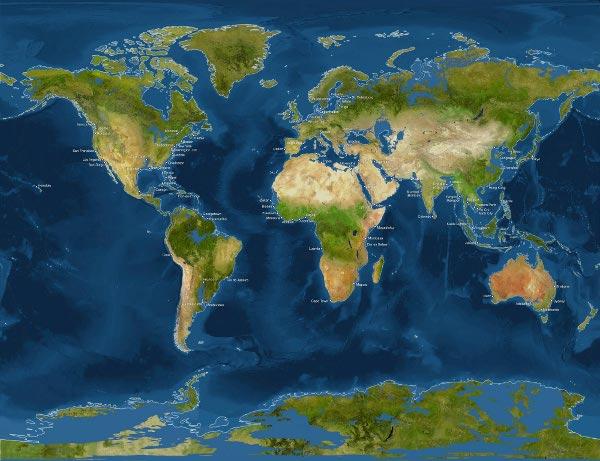 Как ще изглежда Земята, ако ледовете се стопят