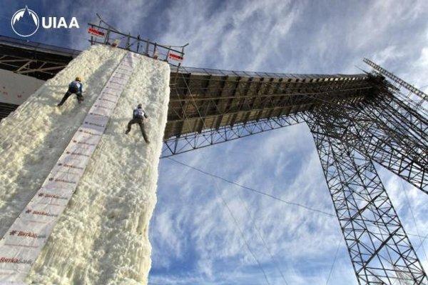 Издигат кула за ледено катерене в Сочи