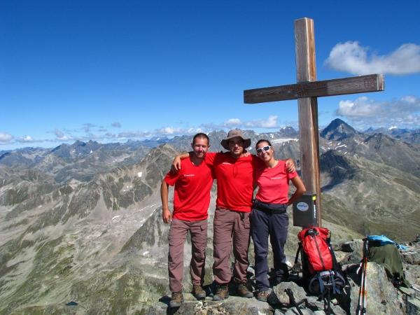 Иван, Живко и Таня. Връх Schwarzhorn 3147 м, Швейцария