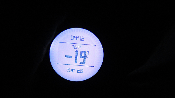 Часовникът на Боян, -19 градуса