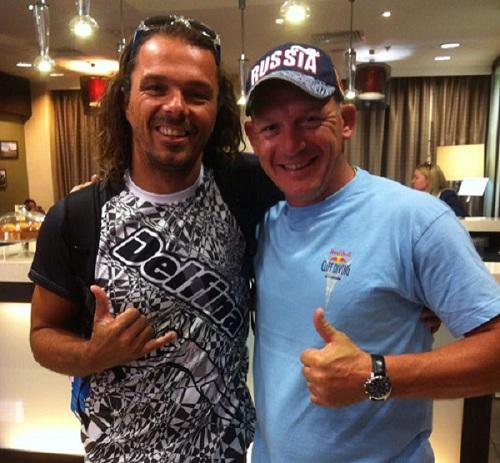 Заедно с Dmitri Sautin, многократен световен шампион.