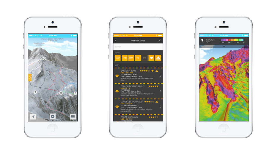 Излезе умно приложение за фрийрайд ски и сноуборд