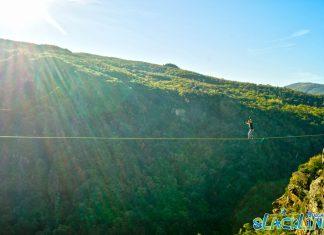 Първия български хайлайн в Родопите