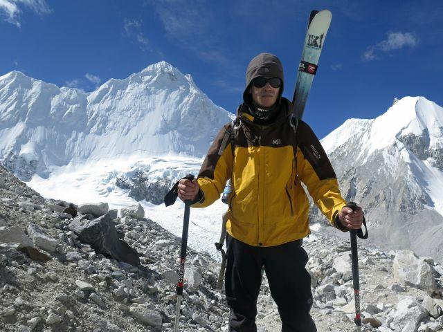Богдан Велев в началото на изкачването