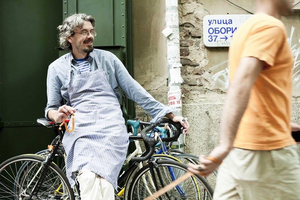 Младен Чуканов - един от двамата организатори на вело търга в София. Фотограф: Минко Минев