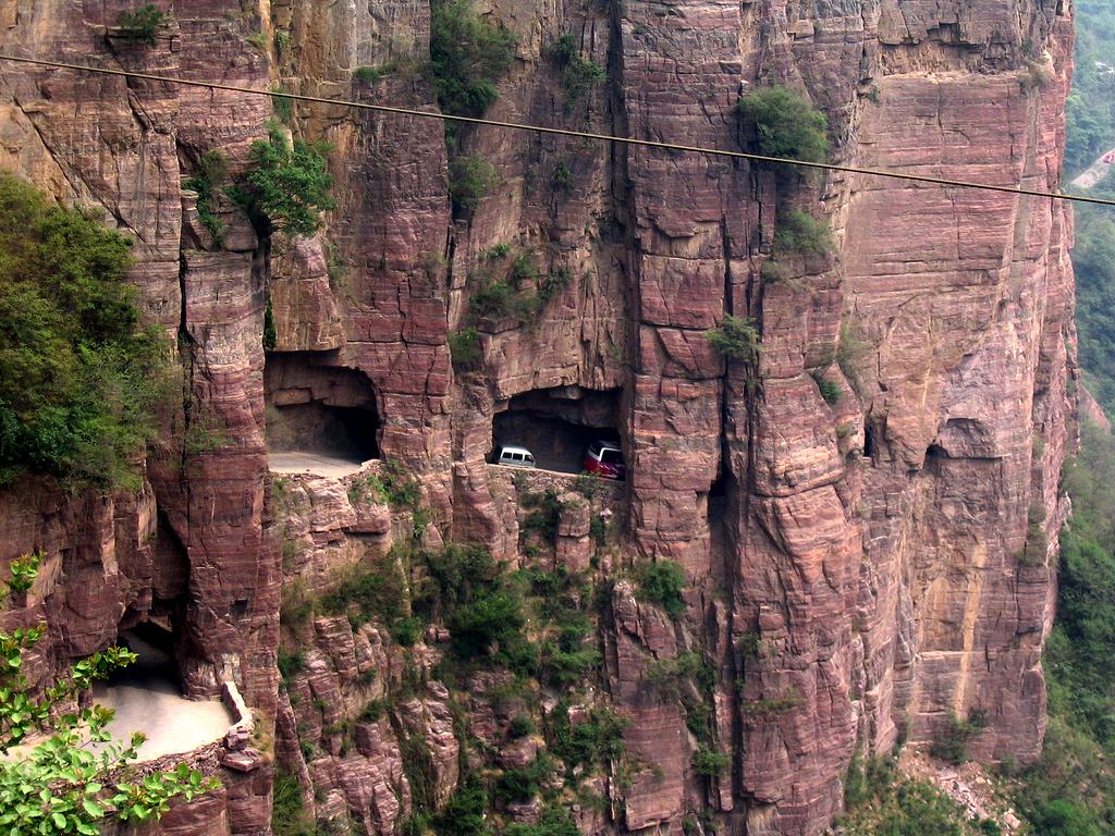 """Най-опасните пътища в света - тунелът """"Гуолянг"""", Китай"""