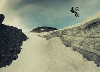 С планински велосипед по глетчер