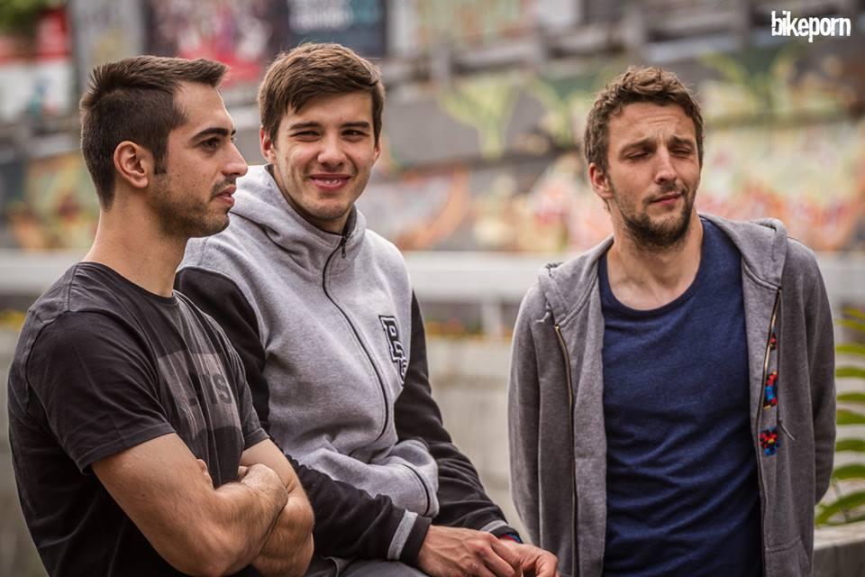 Росен Ковачев, Стивиан Гатев и Тодор Киров в деня преди състезанието. Снимка: Георги Даскалов