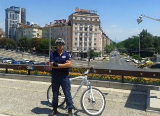Полицаи на колело - София