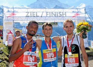 Шабан Мустафа заедно с Mekonnen Birhanu и Томазо Вачина. Снимка: Jungfrau