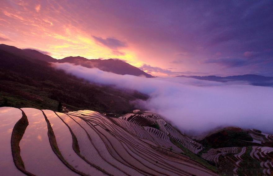 Оризови тераси, Китай