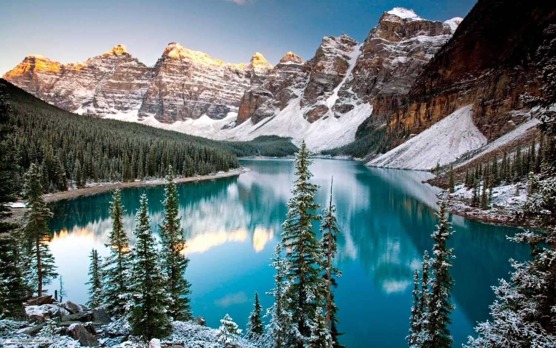 надморска височина, зима, езеро, планина