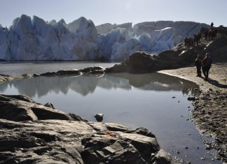 Отстъплението на ледниците в Патагония. Октомври 2015