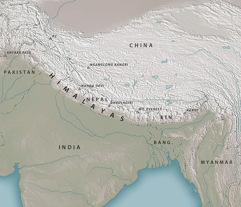 Карта, Хималаи