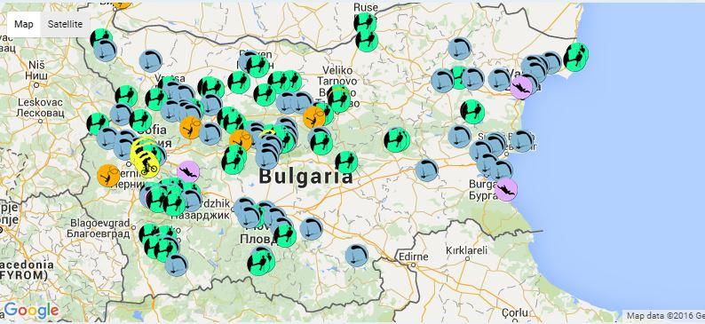 Екстремната карта на Bulgaria Outdoors
