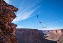 Двоен хамак над каньон