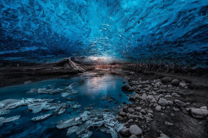 Ледени пещери, ледника Ватнайокул