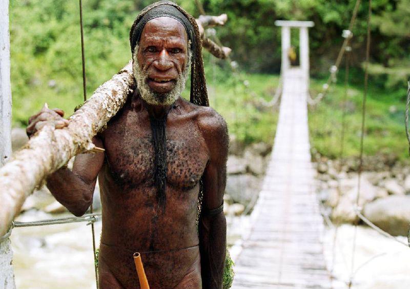 Човек, живеещ в района на Пунчак Джая. Снимка: wikipedia