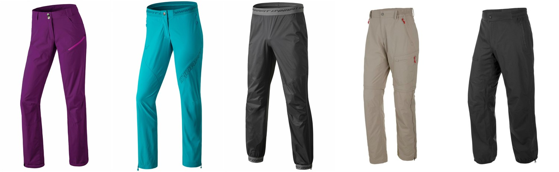 Панталон DYNAFIT TRAVERSE DST W; панталон DYNAFIT XTRAIL DST W; трислоен панталон DYNAFIT Transalper 3L; 2 в 1 панталон SALEWA PUEZ DST 2/1 M; панталон SALEWA PUEZ PTX 2.5L U
