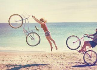С колело на море