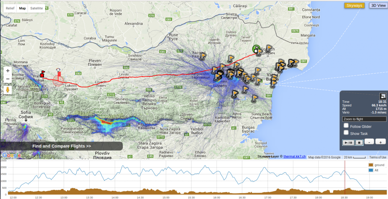 Рекорд - най-дълъг полет с парапланер за Румен Райнов–Жиро