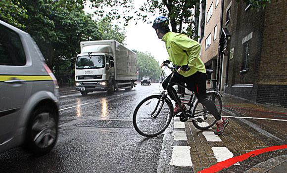 Колоездач на пътя