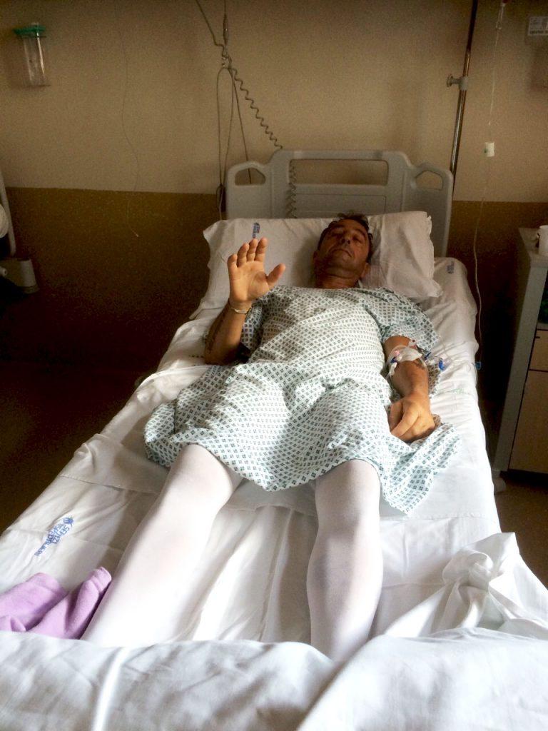 Иван Димов след първата операция в Сиена