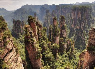 Zhangjiajie climbing China
