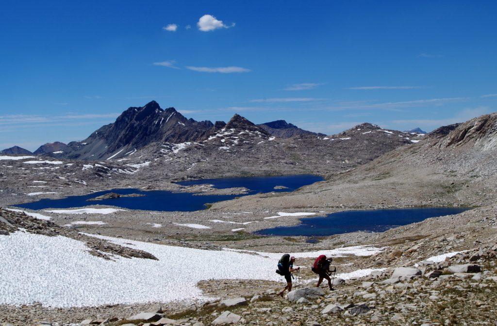 Под прохода Джон Мюир, 3,644 м в Национален парк Кингс кеньон, Сиера Невада, Калифорния