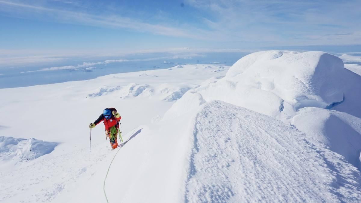 Николай Петков към връх Фризланд