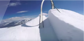 Ski rail loop