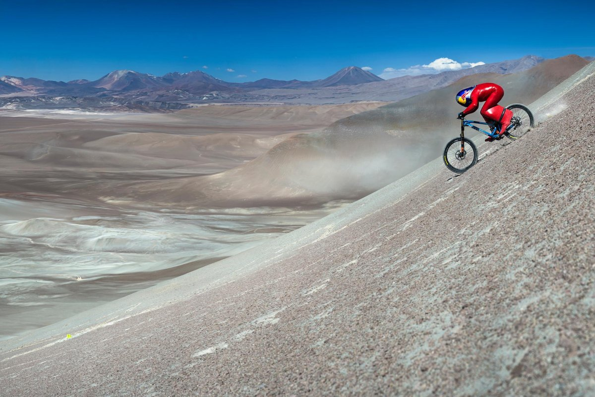 Маркус Щьокл рекорд спускане велосипед скорост
