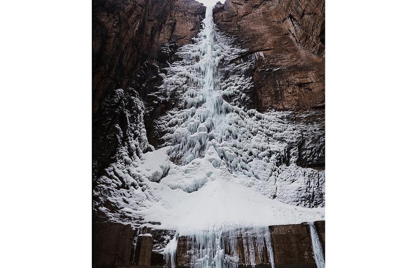 водопадът във формата на коледна елха