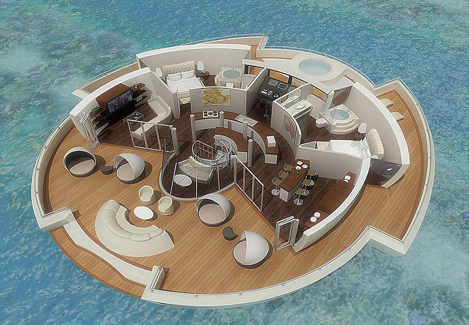 Бъдещето на туризма – курорт от плаващи острови