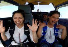 Скок с парашут с носия