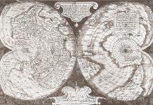 Стара карта на Антарктика.