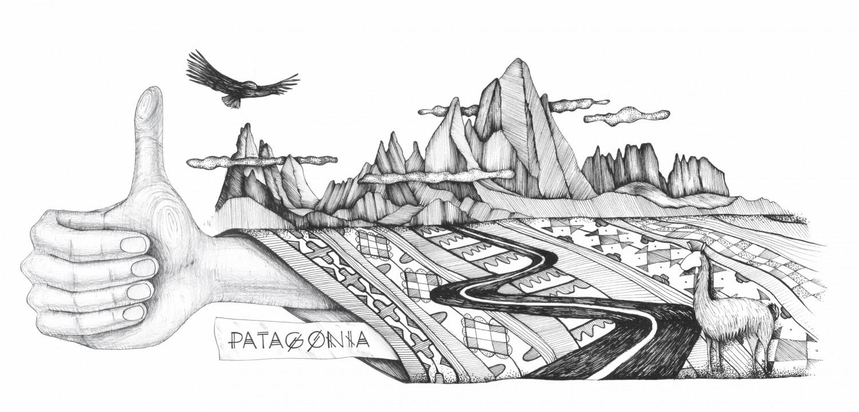 Виктория Паева рисува Патагония.