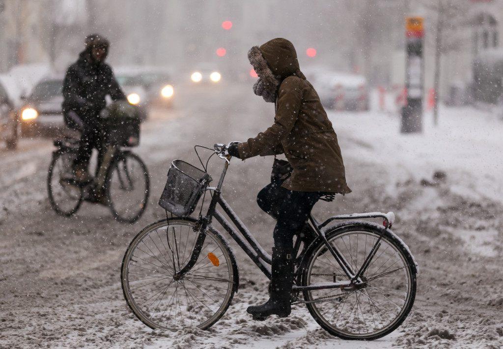 Колоездене през зимата