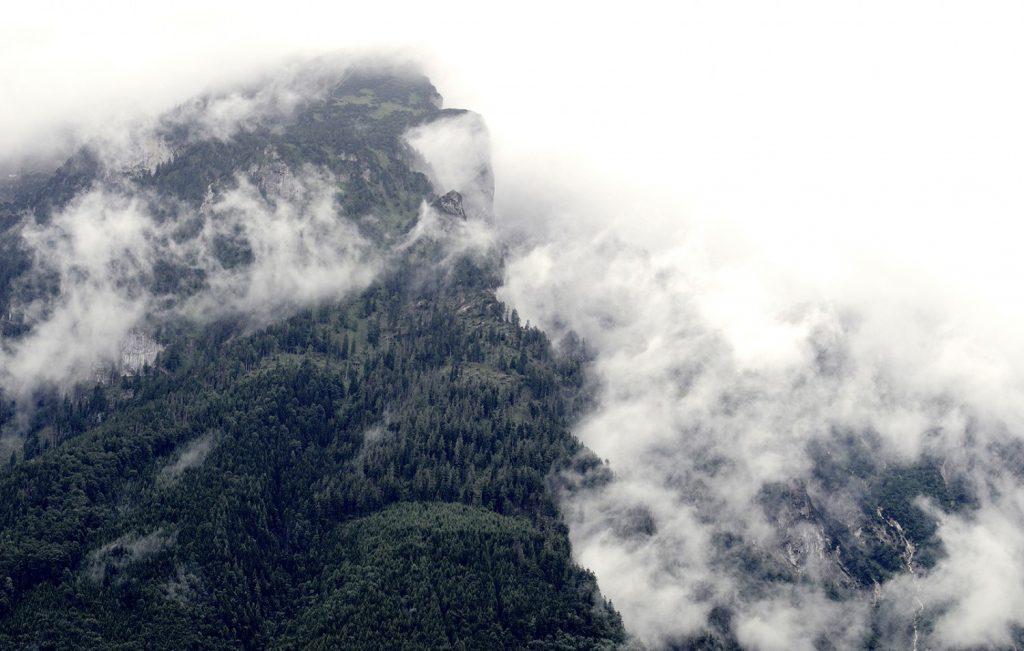 Планина, облаци