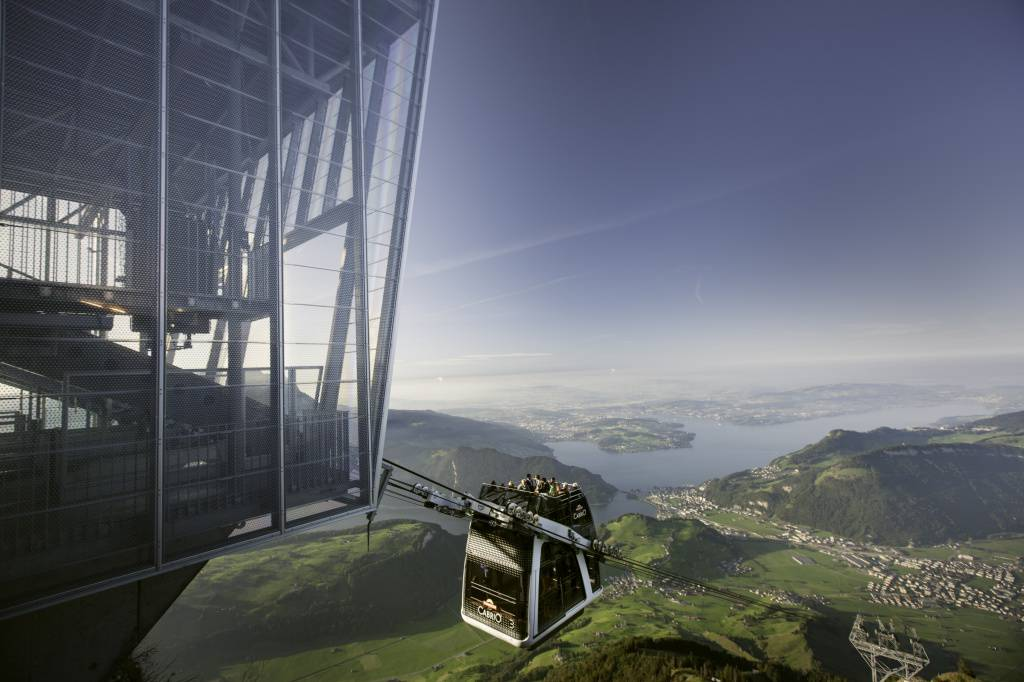 Кабрио лифт до връх Стансерхорн