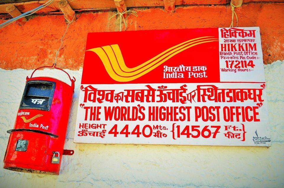 Най-високо разположената поща в света