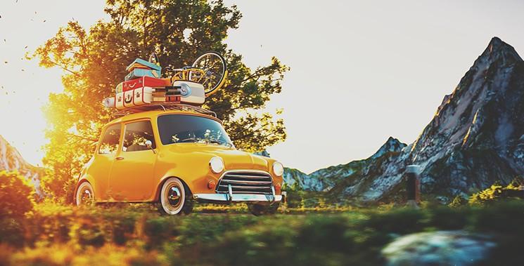 Пътуване, багаж, лято