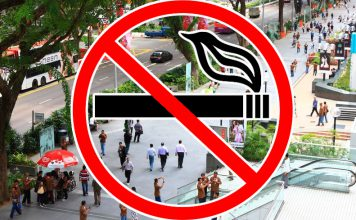 Забрана за пушене на открито в Сингапур