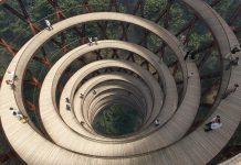 Спираловидна горска пътека в Дания